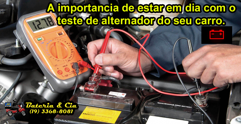 IMPORTANTE, teste periodicamente a carga do alternador do seu CARRO